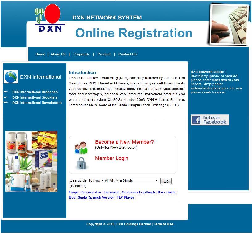 DXN Online Registration