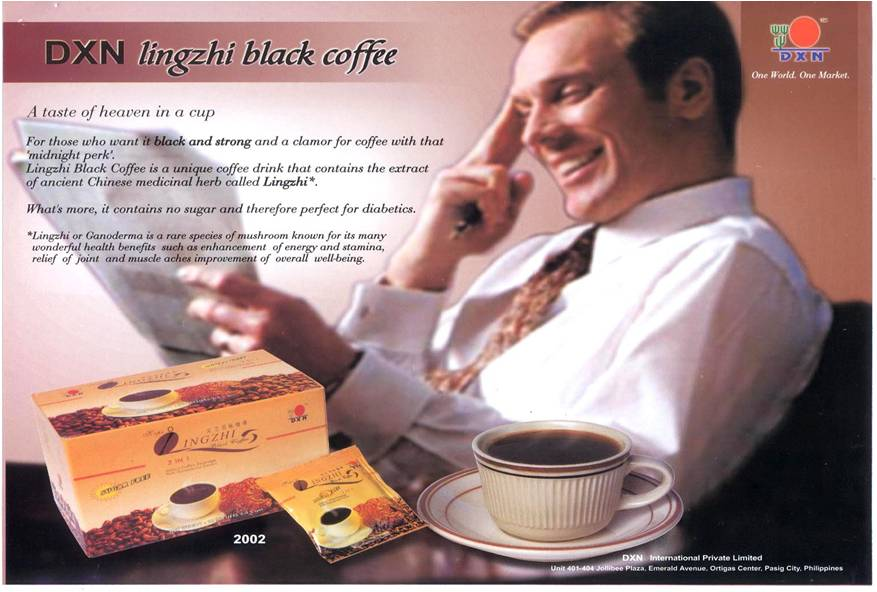 The Lingzhi coffee is a product of DXN International - the world class Ganoderma manufacturer..