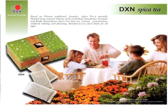 The Spica Tea is a product of DXN International - the world class Ganoderma manufacturer..